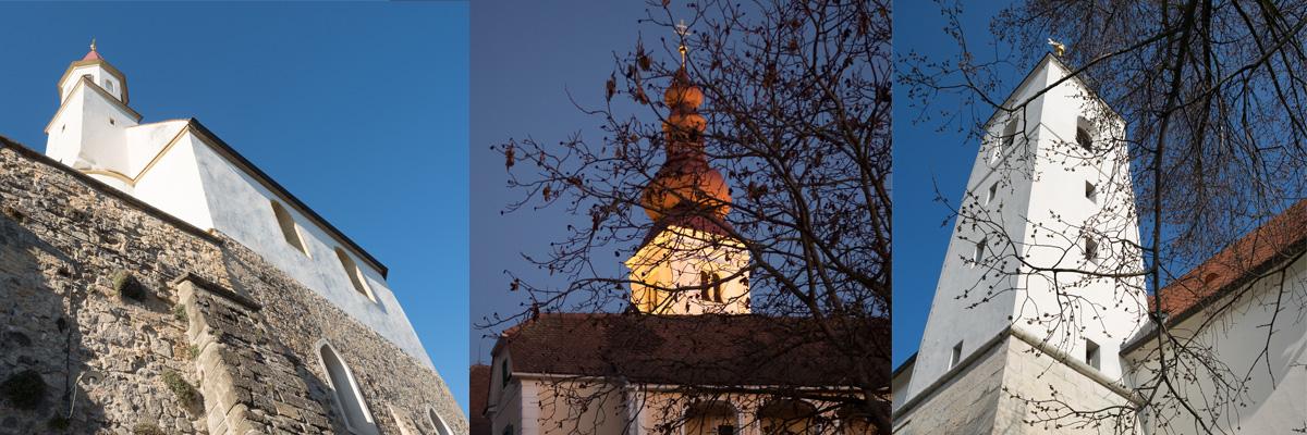 Vier Kirchen und drei Türme