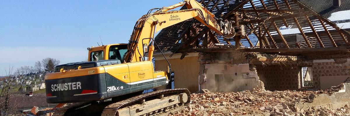 Abbruch von Gebäuden